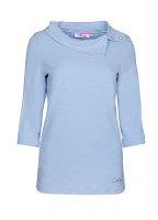 Malbay Three-quater sleeve top - Pale Blue