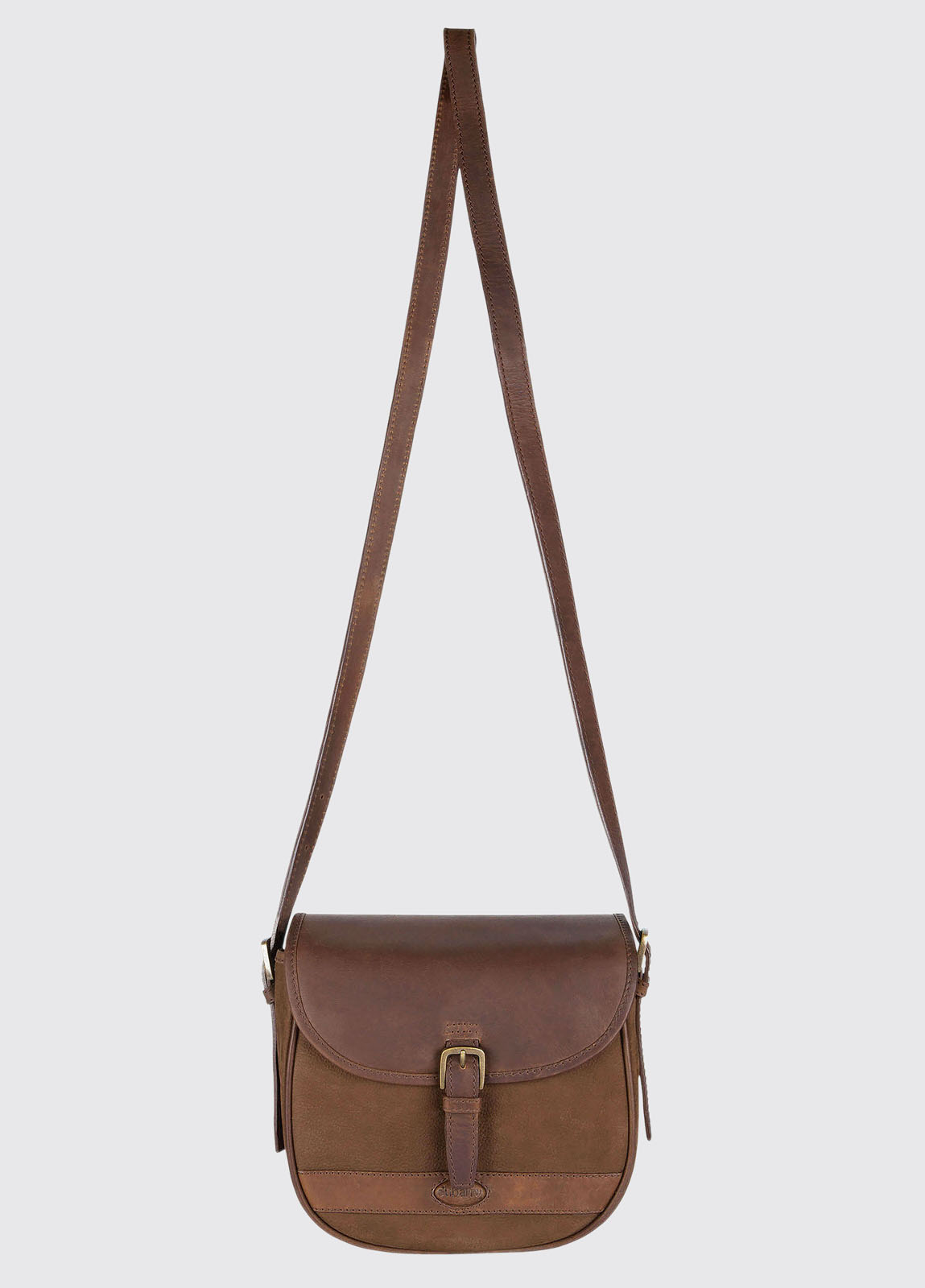 Clara Leather Saddle bag - Walnut