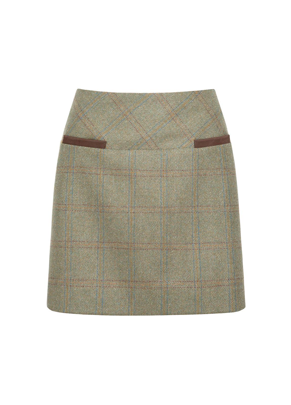Dubarry_ Clover Tweed Mini Skirt - Acorn_Image_2