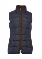 Spiddal Quilted Gilet - Navy/Bordo