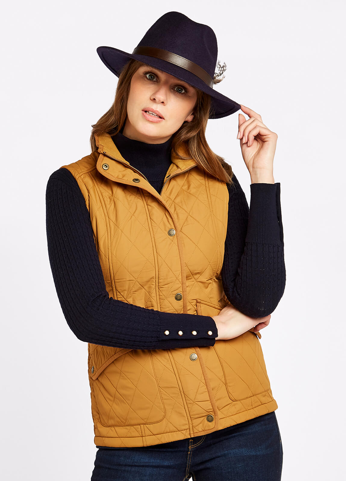 Clonmel Quilted Gilet - Amber