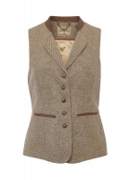 Spindle Tweed Waistcoat - Sable
