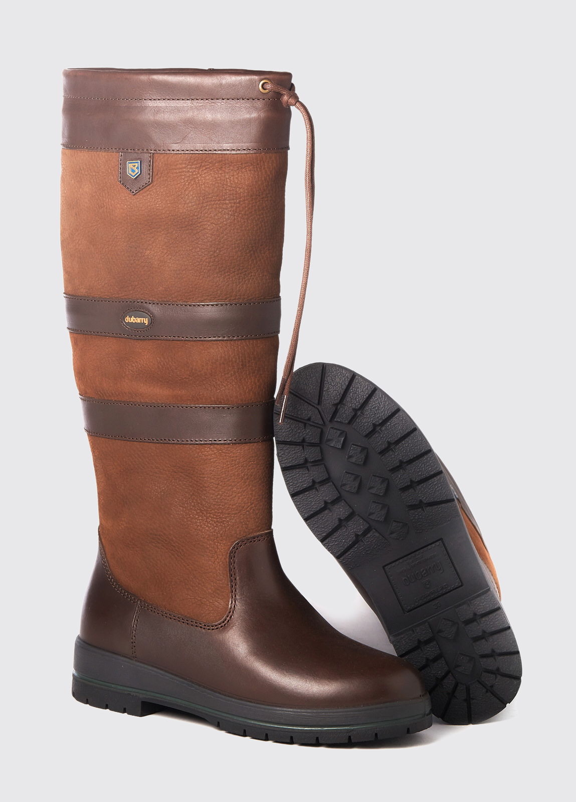 Dubarry Galway EX Fitt waterproof leather country boot in Walnut