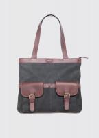 Raheen Tote-Style Shoulder Bag - Black/Brown