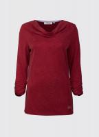 Rathlin cowl neck top - Crimson