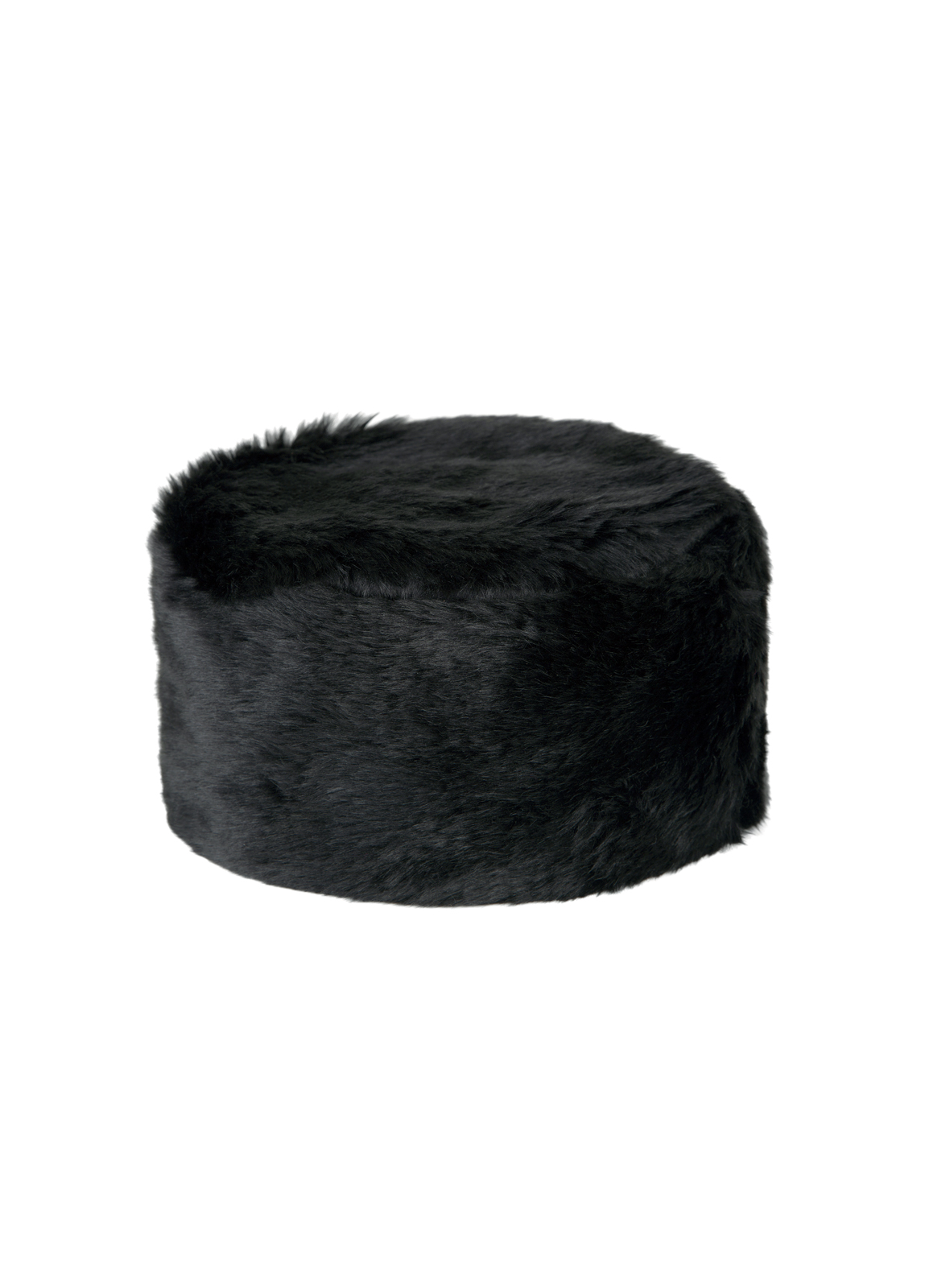 Avoca Faux Fur Hat - Black