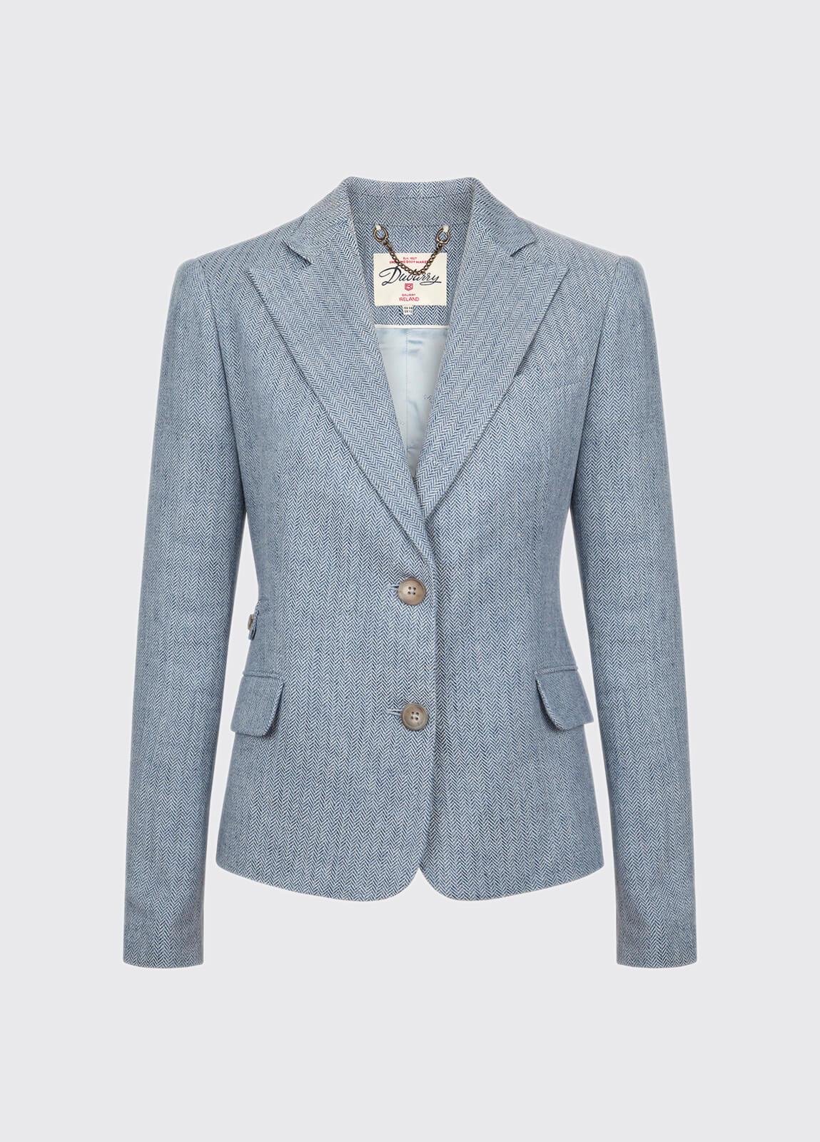 Blairscove Women's Linen Blazer - Blue