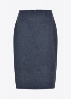 Fern Tweed Skirt - Denim