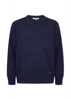 Brennan Men's Knitted Sweater - Navy