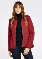Bettystown Quilted Coat - Ruby