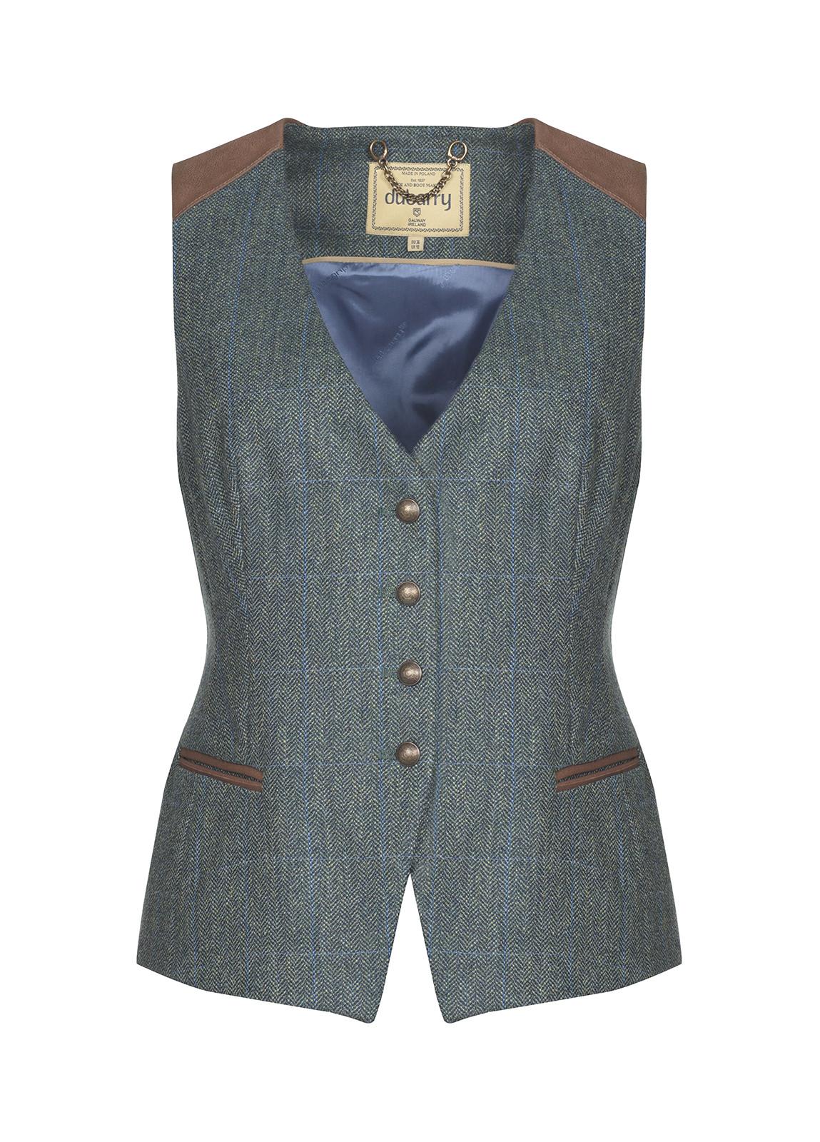 Dubarry_ Daisy Fitted Tweed Waistcoat - Mist_Image_2