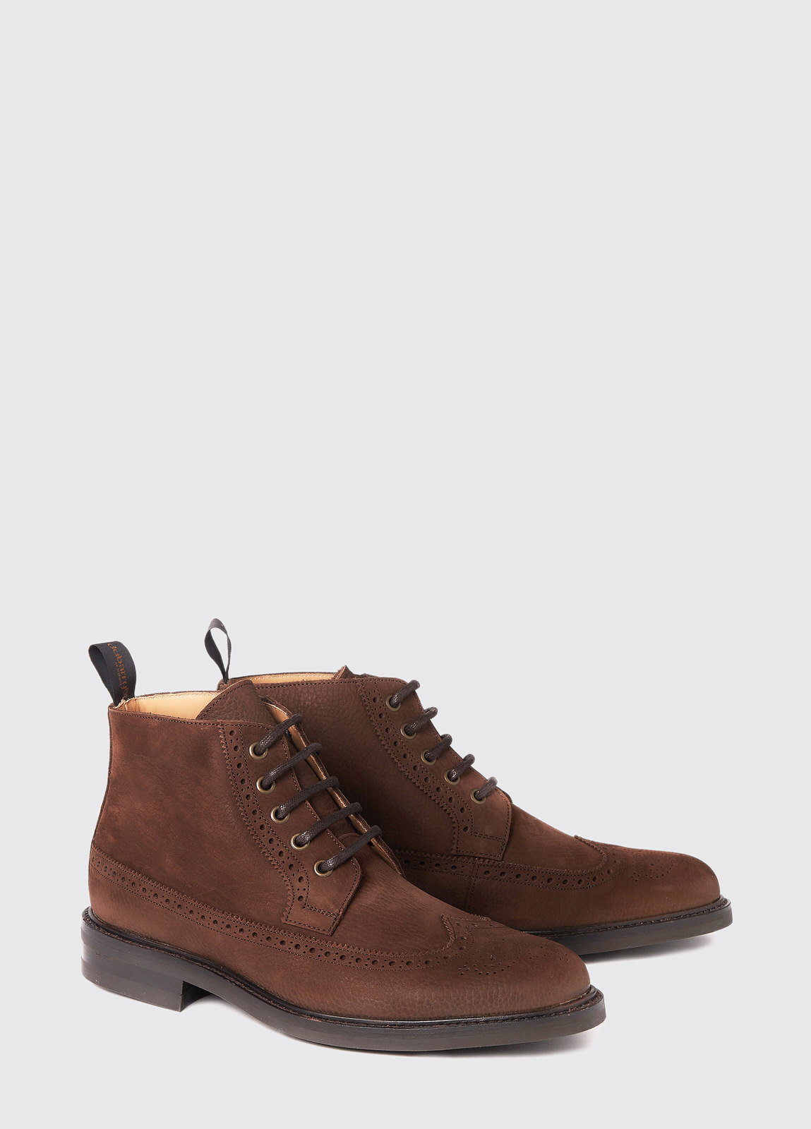 Down Goodyear Brogue Boot - Walnut