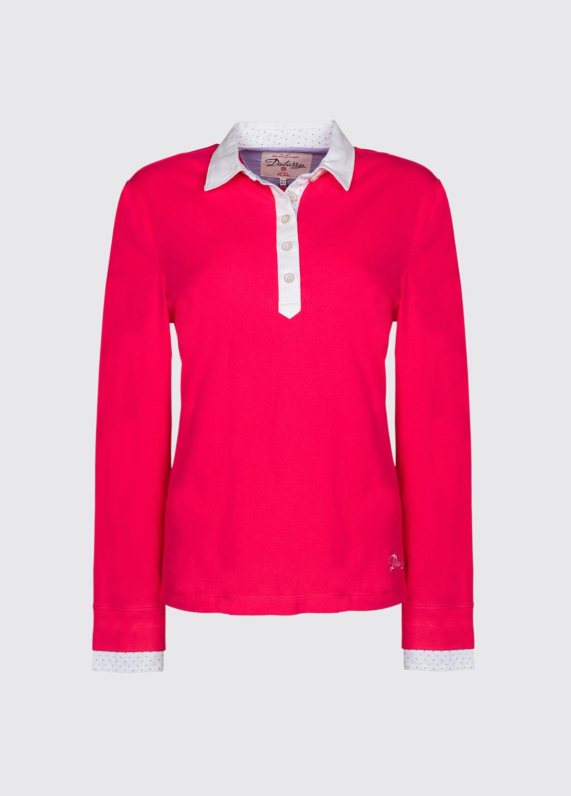 Barna Jersey Knit Top - Pomegranate