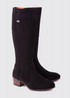 Downpatrick Knee High Boot - Black Suede