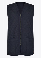 Ballygar Quilted Waistcoat - Navy