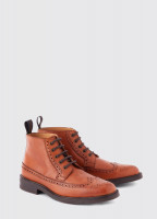 Down Goodyear Brogue Boot - Tan
