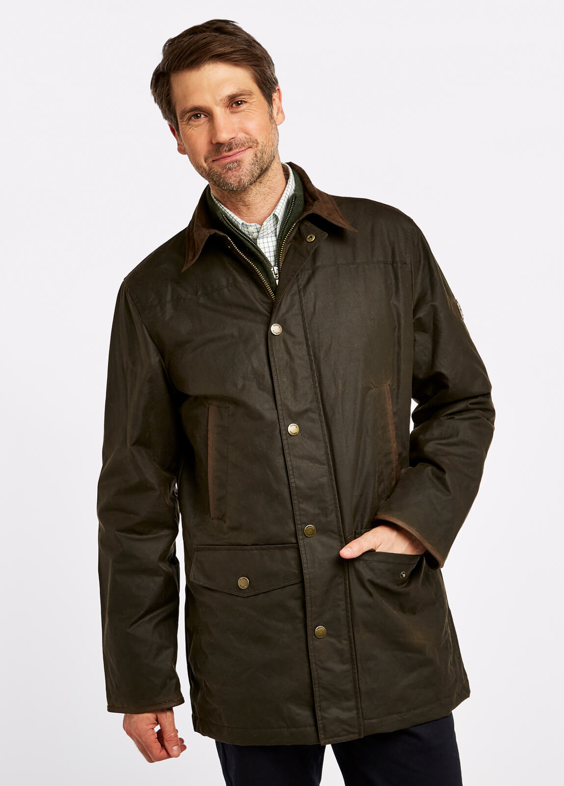Headford Waxed Jacket - Olive