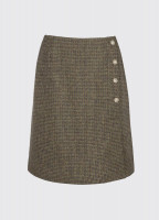 Marjoram Slim Tweed Skirt - Heath
