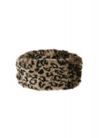 Faux Fur Headband - Leopard