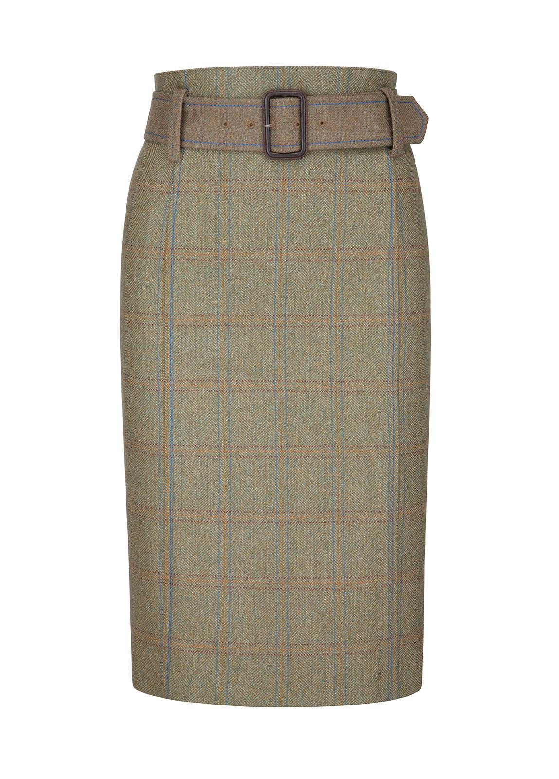 Dubarry_Arrowgrass Knee Length Tweed Skirt - Black/Brown_Image_2