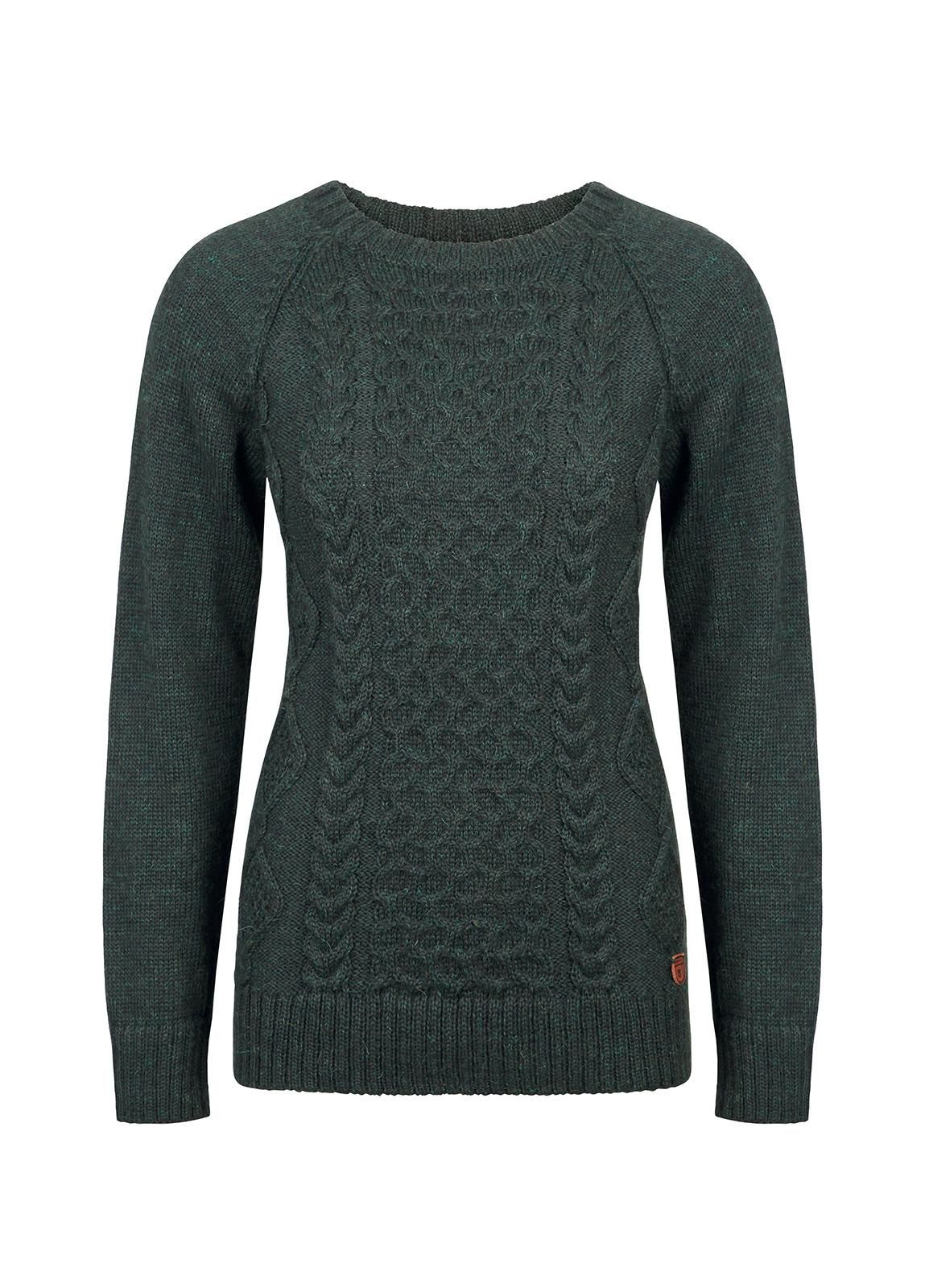 Dubarry_Shandon Ladies Cable Knit Sweater - Verdigris_Image_2