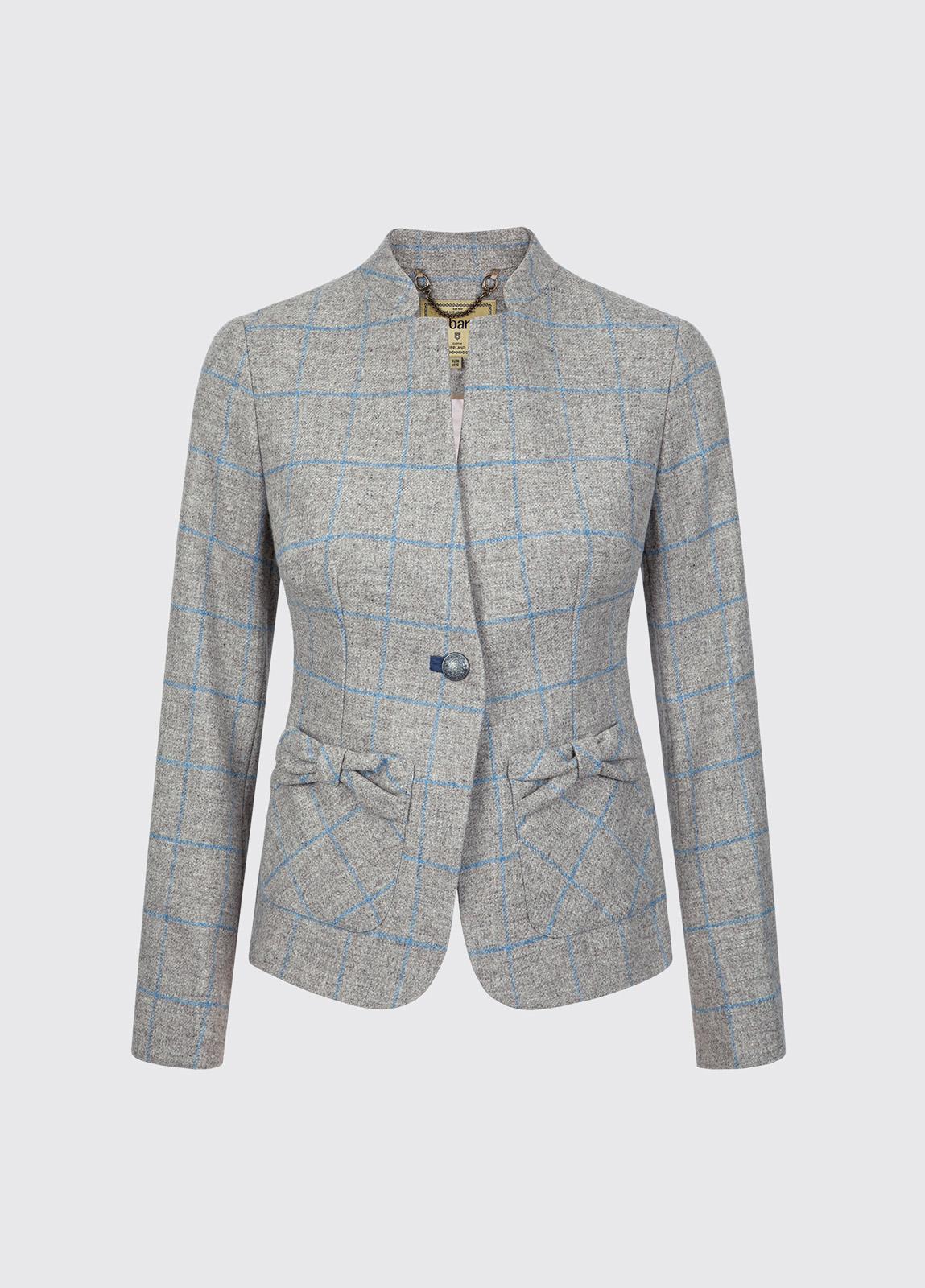 Jasmine Tailored Tweed Jacket - Shale
