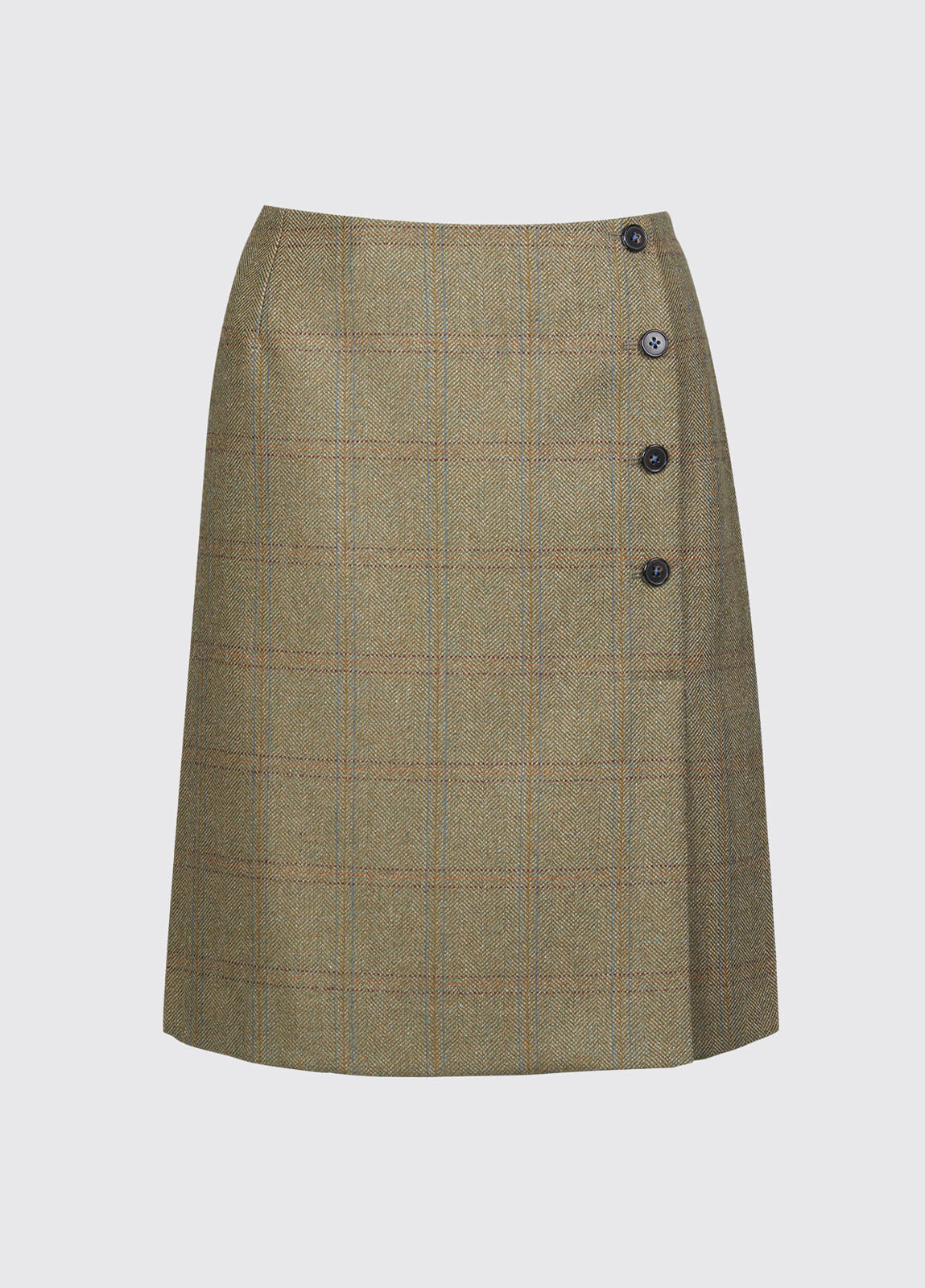 Marjoram Slim Tweed Skirt - Acorn