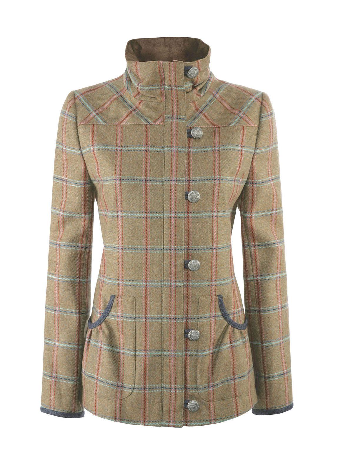 Bracken Tweed Coat - Olive