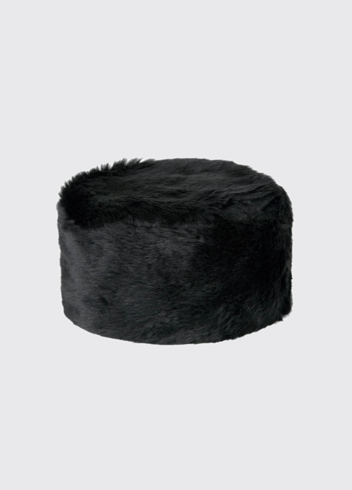 Avoca Faux Fur Hat - Black