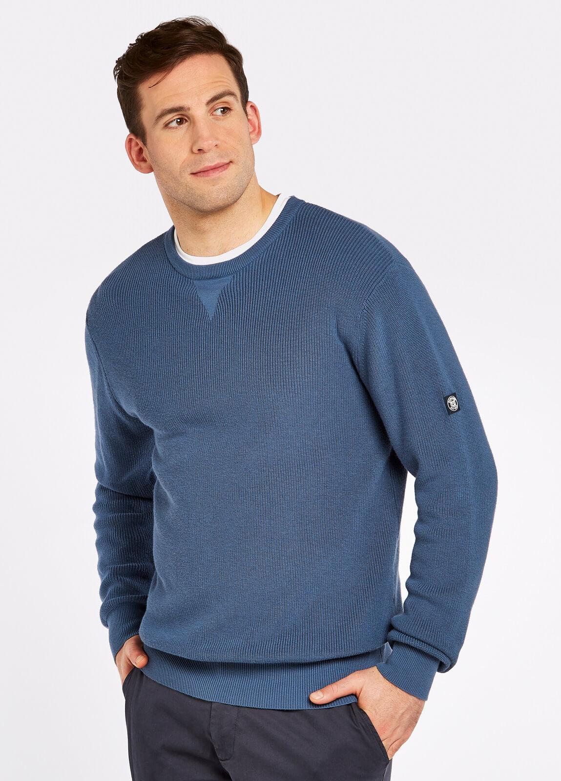 Dubarry_Garrycastle_Sweater_Denim_on_model