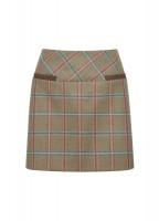 Clover Tweed Mini Skirt - Meadow