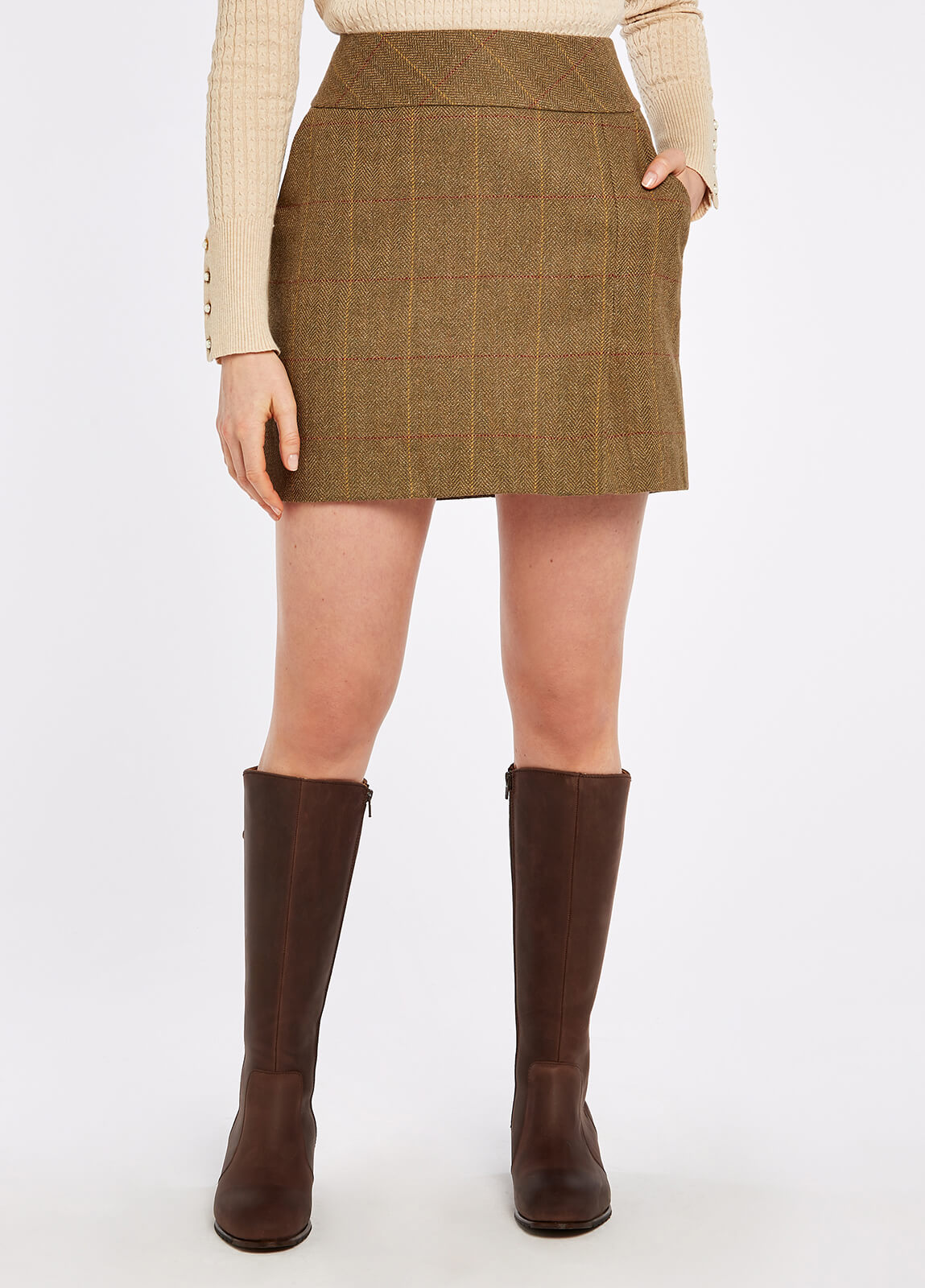 Bellflower Tweed Skirt - Elm