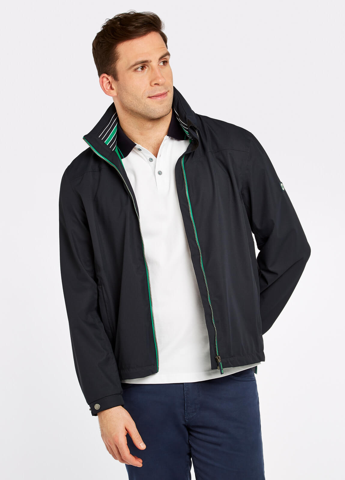 Dubarry_Bundoran_Waterproof_Jacket_Navy_on_model