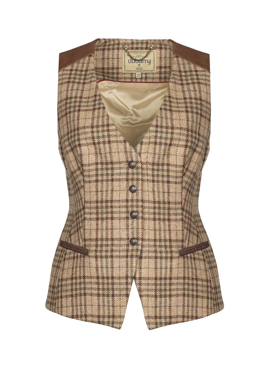 Dubarry_ Daisy Fitted Tweed Waistcoat - Pebble_Image_2