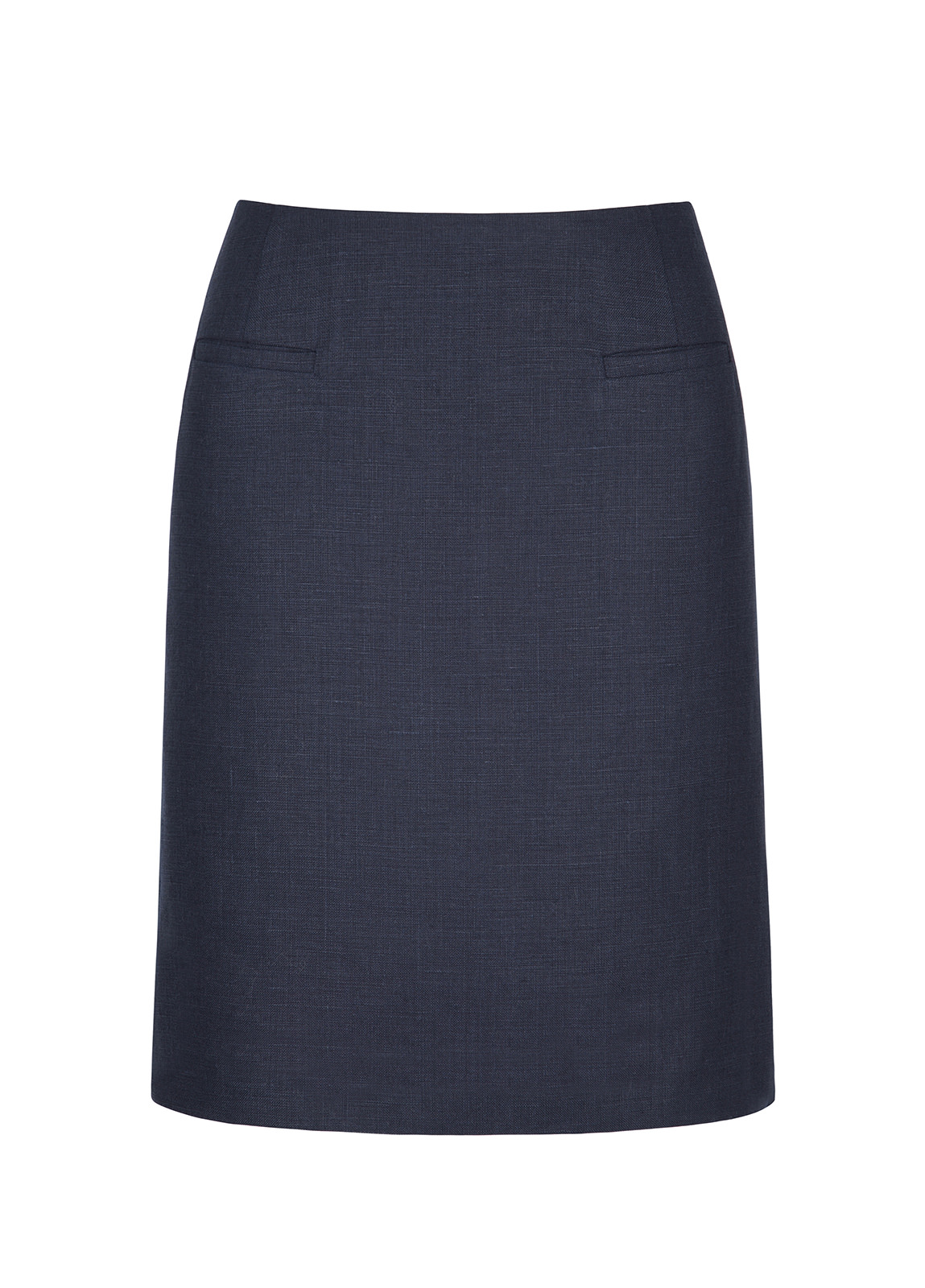 Sunflower Linen Ladies Skirt - Navy