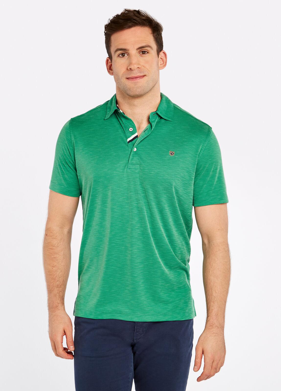 Dubarry_Corbally_Polo_Shirt_Kelly_Green_on_model