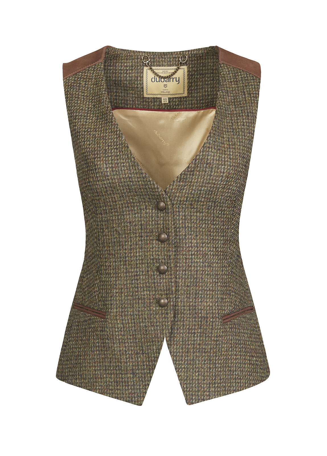 Dubarry_ Daisy Fitted Tweed Waistcoat - Heath_Image_2