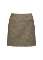 Clover Tweed Mini Skirt - Heath