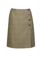 Marjoram Slim Tweed Skirt - Acorn