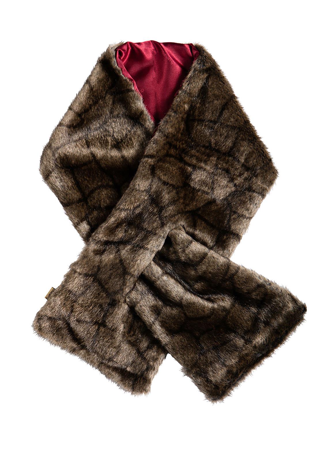 Altamont Faux Fur Wrap - Chinchilla