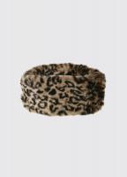 Faux Fur Headband - Leopard