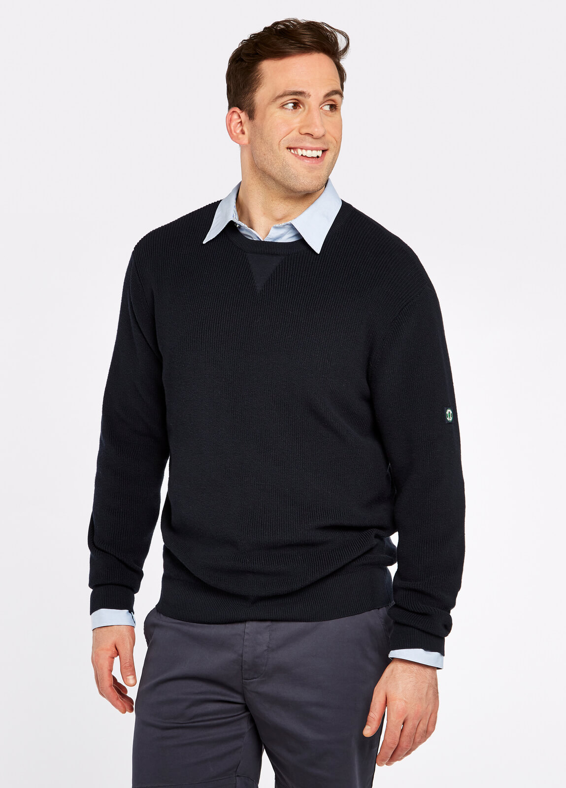 Dubarry_Garrycastle_Sweater_Navy_on_model