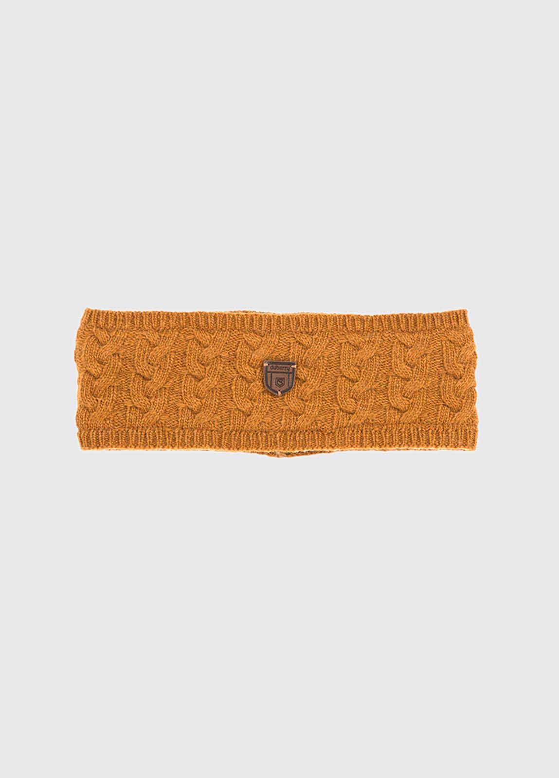 Farmleigh Knitted Headband - Mustard