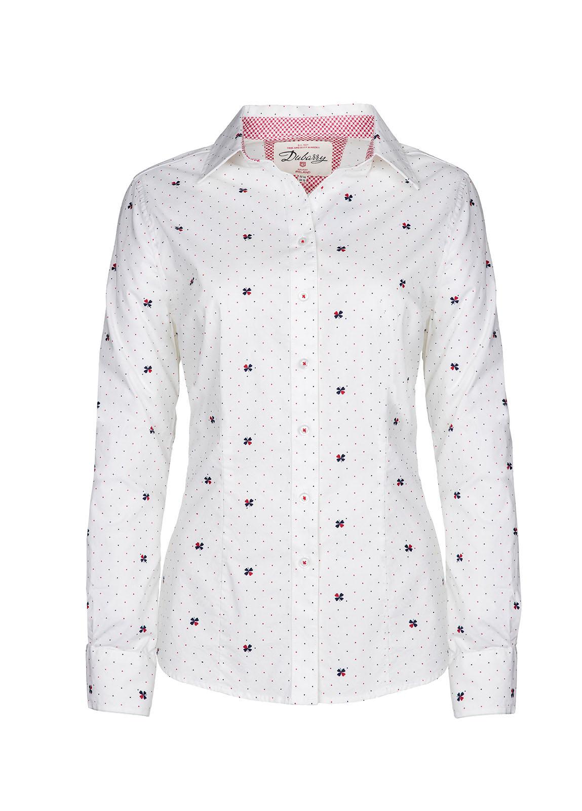 Dubarry_ Azalea Printed Shirt - Sail White_Image_2