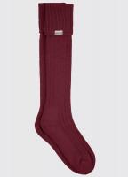 Alpaka knielange Socken - Malbec