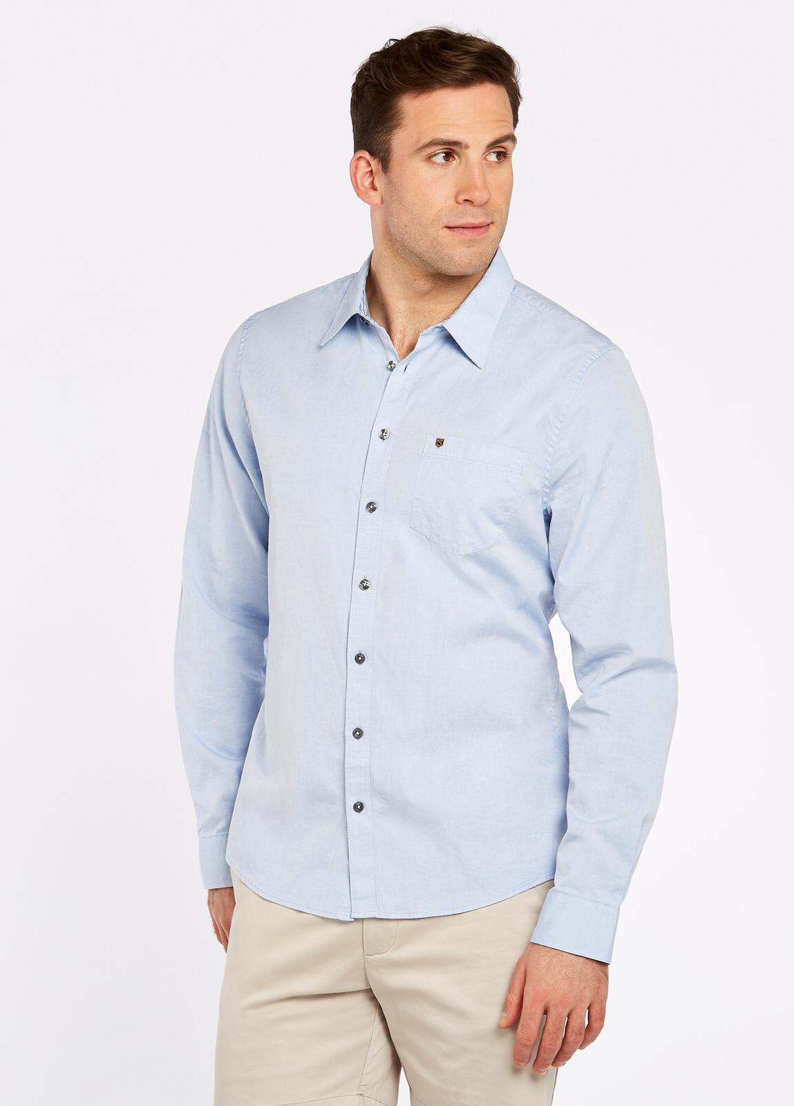Rathgar Herren Hemd blau Oberkörper