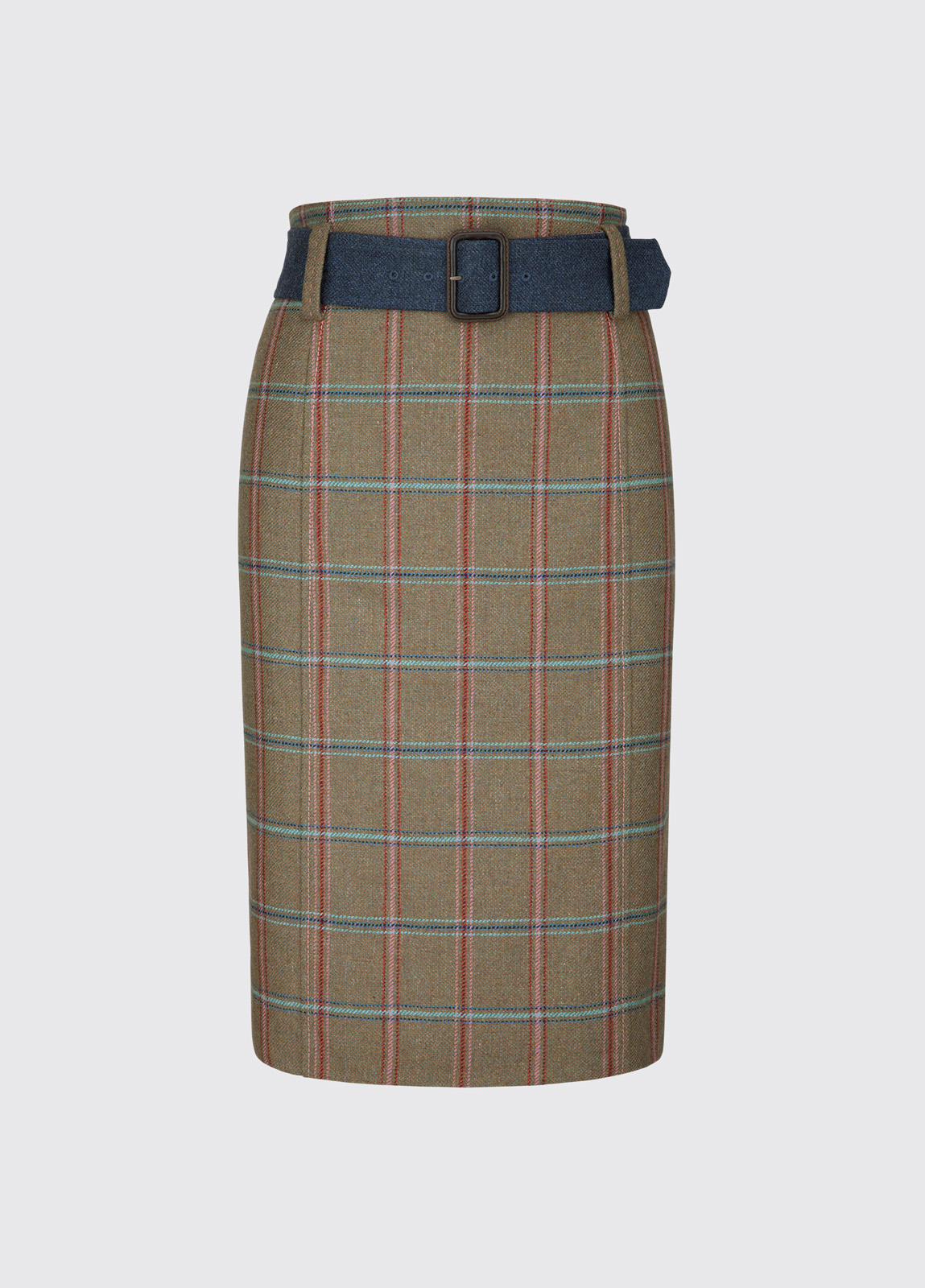 Arrowgrass Knee Length Tweed Skirt - Connacht Meadow