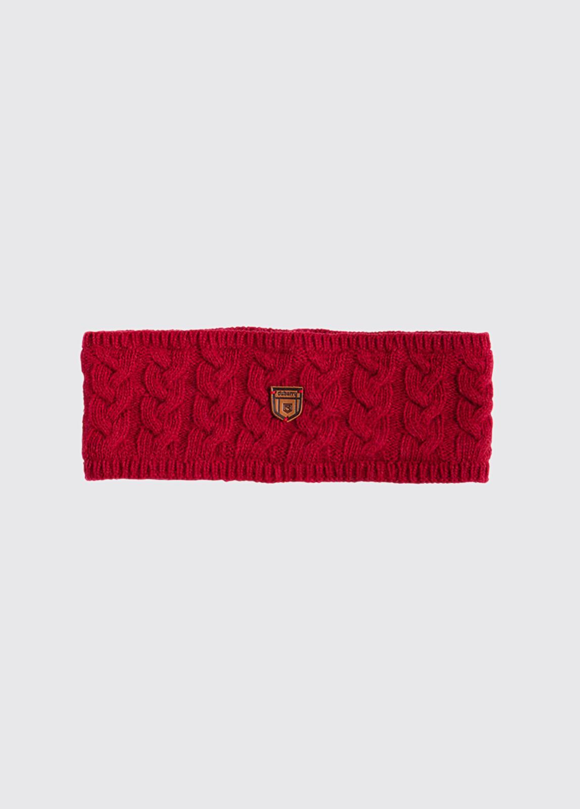 Farmleigh Knitted Headband - Crimson