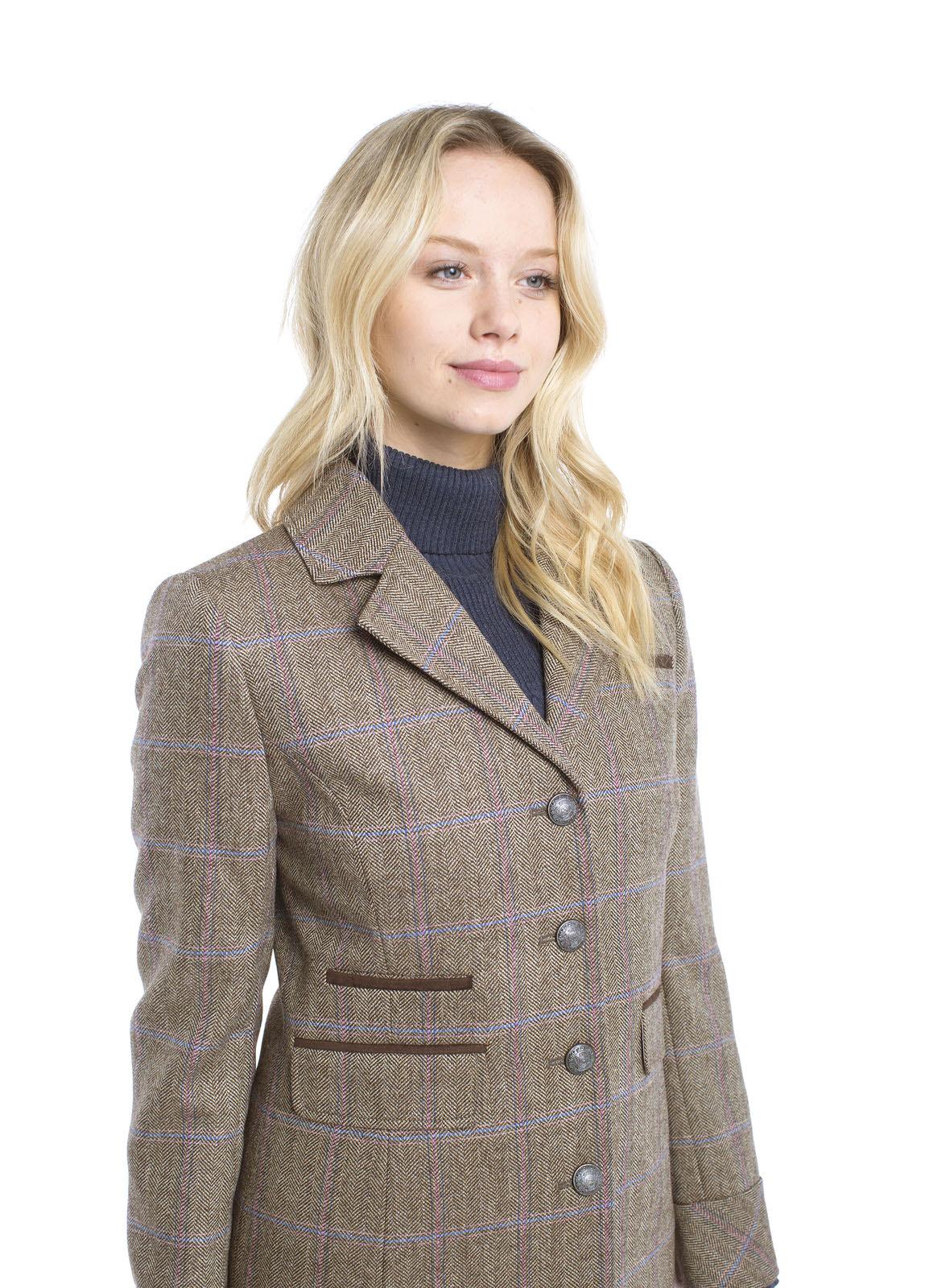 Blackthorn Damen Tweed Mantel Woodrose