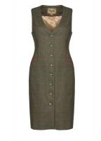 Larkhill Tweed dress - Moss